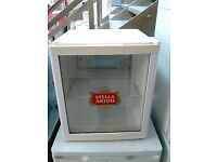 Stella Artois Table Top Display Dridge For Bottles/Cans etc In Good Clean Working Condition