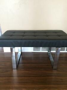 Excellent condition benches black with price reduce  steel legs