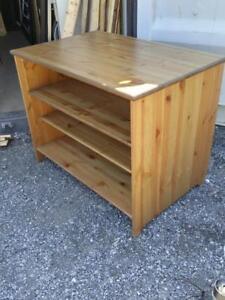 "Oakville IKEA Made in Finland Pine Shelving 30"" high solid wood nice shape vintage retro removeable shelves shelf"