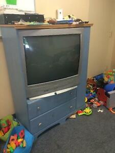 Older TV and stand