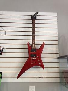 Jackson Electric Guitar with Jackson soft Case red in colour