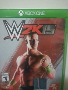 Barely used WWE 2k15 for sale and has DLC