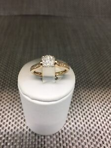 Petite 9ct YG diamond cluster ring - size M Logan Central Logan Area Preview