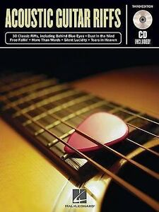 NEW ACOUSTIC GUITAR RIFFS        BK/CD 3RD EDITION by Hal Leonard Corp.