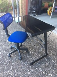 Glass top student desk and chair Moggill Brisbane North West Preview