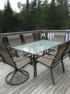 7 piece table and chair set.