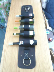 HANDCRAFTED LEATHER WINE RACK