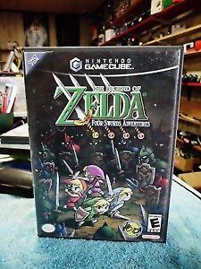 Zelda Four Swords Adventures! Gamecube Rare!