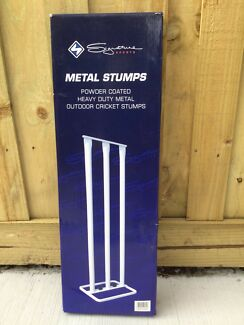 Brand New White Metal Cricket Stump (one only)
