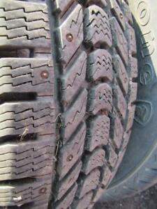4---LT245/70R17 Fire Stone Winter Force---studded---10 ply---Like New