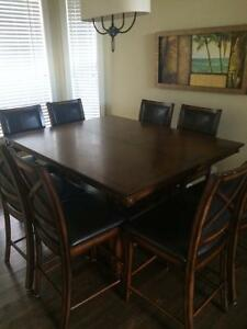beautiful bar style dining room table