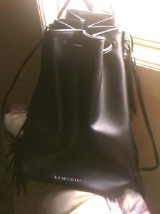 Beautiful leather frindged back pack style Victoria Secret purse