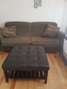 Couch/chair/large rug and table