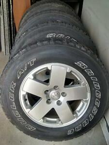 P255/70R18 Tires & Rims for Jeep Wrangler