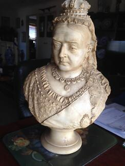 Queen Victoria Jubilee Large Parian Bust, England, 1887