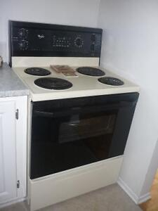 Fridge and stove -beige