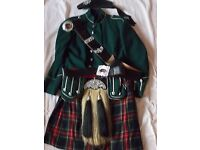 Scottish Piper Uniform. All illustrated items included except the sporran.