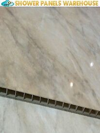 1x pergamon marble 5mm hard Pvc Cladding Decorative Wall Panels Bathroom