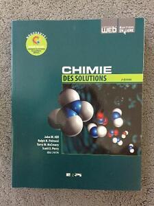 Manuel de chimie général et chimie des solutions de John W. Hill Gatineau Ottawa / Gatineau Area image 2