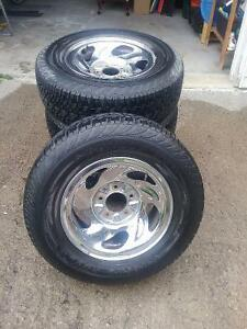 Tires and Chrome Rims