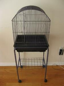 """Bird cage with stand, 17"""" x 13"""" x 23"""" with 3/8"""" spacing"""