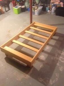 Homemade toddler bed with no mattress