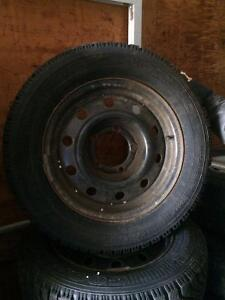 4 LIKE NEW WINTER TIRES ON RIMS 195/65 R15 $300