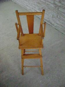 Antique baby or doll high chair