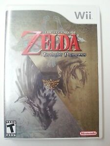 Zelda Twilight Princess for Wii + Case and Manual Mint Condition