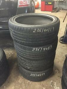 For Sale 4 used Nexen CP 671 tires 235-40-19