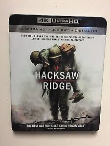 Hacksaw Ridge 4K UHD Bluray  new still wrapped