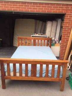 Nice solid wooden queen size with mattress , can delivery at extr