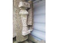 Antique concrete posts