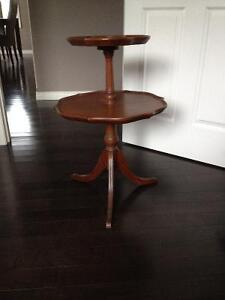 Two Tiered Antique Table