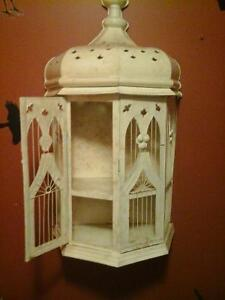 Large bird cage beige in color perfect halloween prop