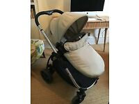 Icandy travel system with car seat and new footmuff bargain