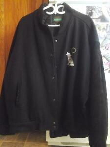 """new price -40.00 -Made in Canada """"Wolf""""motif coat"""