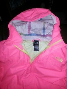 girls size 18 xl northface wind and rain jacket