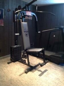 Treadmill and home gym