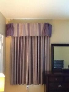 4 sets of curtains and valances