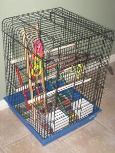 bird cage=pet cage & carrier=cat liter =fish bowls