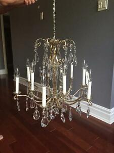 Beautiful Authentic Swarovski Crystal Antique Chandelier
