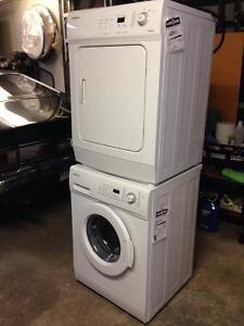 samsung apartment size stackable washing machine and dryer