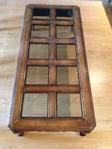 Solid Wood Coffee & End Tables - Smoked Bevelled Glass Cambridge Kitchener Area image 3