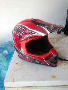ZOX Red Motocross Helmet-Perfect Condition!!!!
