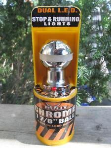"""Bully 1-7/8"""" Chrome Plated Steel Shank Trailer Hitch Ball w. LED London Ontario image 9"""