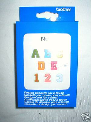 Brother E Touch Embroidery Design Cassette Chenille ABC