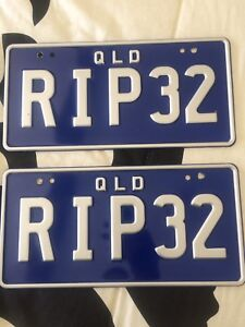 """QLd Personalised plates """" RIP32 """" Highland Park Gold Coast City Preview"""