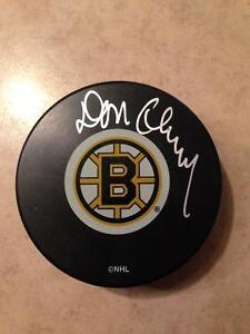 Boston Bruins Don Cherry signed puck