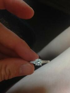 Promise Ring - 925 silver with cubic zirconia Kawartha Lakes Peterborough Area image 3